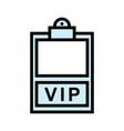 vip icon isolated on white background from event vector image