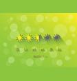 yellow sun simbols summer loading on green vector image vector image