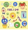 Fools day- 1 April vector image