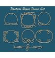 Nautical Ropes Frame set vector image
