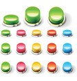set of glossy empty buttons vector image