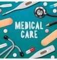 Medical care medicine template vector image
