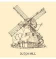 Dutch mill vector image