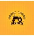 farm tractor design background vector image