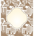 town label seamless vector image
