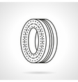 Wheel disk flat line icon vector image