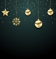 Christmas Golden Balls Copy Space for Your Text vector image