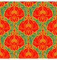 Colorful bright vintage floral ornate background vector image