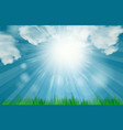 abstract blue sky blurred gradient background vector image