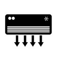 air conditioner icon design vector image