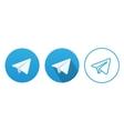 Aircraft Blue Button Icon vector image vector image