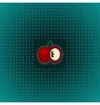An apple vector image