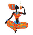 beautiful african woman in ethnic dress vector image vector image