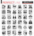 beauty cosmetics classic black mini concept vector image vector image