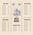 beer restaurant brochure vector image