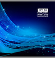 blue wave abstract background with copy space vector image