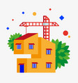 building a house vector image
