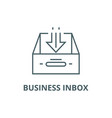 business inbox line icon business inbox vector image vector image