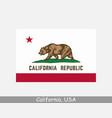california usa state flag ca usa vector image vector image