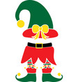 christmas elf green hat elf isolated vector image vector image