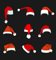 christmas hat decoration vector image