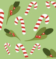 christmas sweetmeats green background vector image vector image