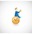Coffe break flat icon vector image vector image