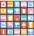 Collection flat icons with long shadow Electrical vector image vector image