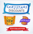Colored set of promotional sales vector image vector image