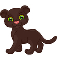 cute panther vector image