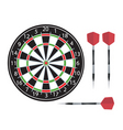 dartboard and darts vector image vector image