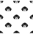 Dog muzzle icon in black style for web vector image