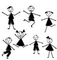 doodle kids vector image vector image