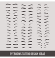 Eyebrows tattoo design ideas tatto vector image vector image