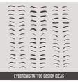 eyebrows tattoo design ideas tattoo vector image