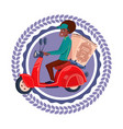 fast delivery service icon isolated african vector image vector image