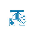 Financial analysis linear icon concept financial