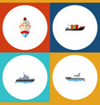 flat icon ship set of delivery tanker ship and vector image vector image