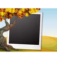 Frame with autumn background vector image vector image