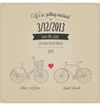 Funny grunge retro wedding invitation vector image vector image