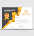geometric golden and black certificate design vector image