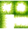 Green leaves frame Set isolated on white EPS 10 vector image vector image