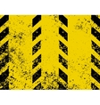 grungy and worn hazard stripes vector image vector image