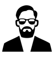 Hipster Fashion Man Hair Glasses and Beards vector image vector image