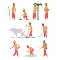 indian harvester farmer human in bangladesh vector image vector image