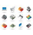 Isometric-style icons for electronics vector image vector image