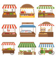 local market outdoor shop places fresh farm foods vector image vector image