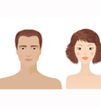 man and woman portraits vector image