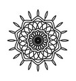 mandala motif floral decoration mystical line vector image vector image