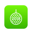 modern christmas ball icon green vector image vector image